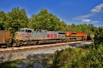 KCS 4614 and 4122 - Mid Train DPUs on KCS C-KCWE-01